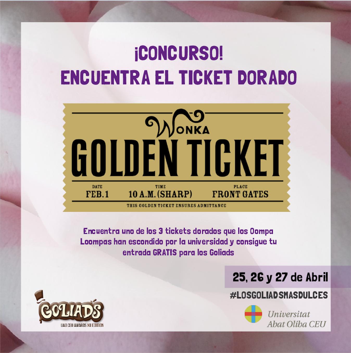 ¡Encuentra el ticket dorado!