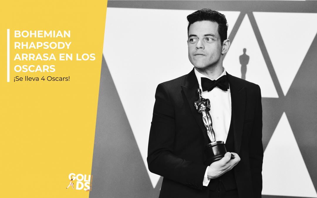 Bohemian Rhapsody arrasa en los Oscars